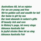 Advance Australia Fair by johnkratovil