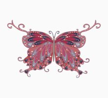 Abstract Fantasy Butterfly 2 One Piece - Short Sleeve