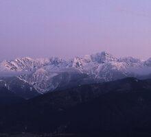 Mountain Sunset by Kasia Nowak