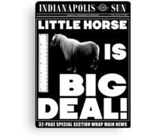 Little horse is big deal. (black) Canvas Print