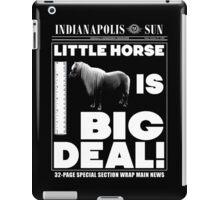 Little horse is big deal. (black) iPad Case/Skin