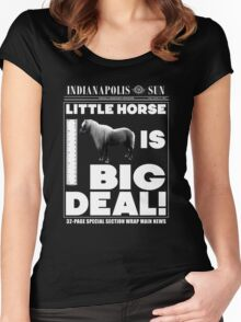 Little horse is big deal. (black) Women's Fitted Scoop T-Shirt