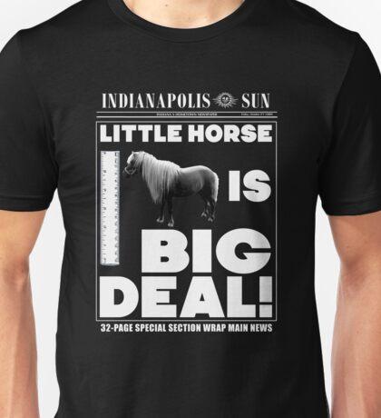 Little horse is big deal. (black) Unisex T-Shirt