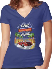 Racing Adventure  Women's Fitted V-Neck T-Shirt