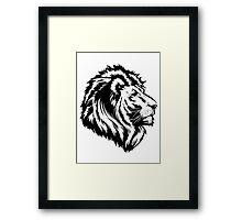 King of the Pride BLK Framed Print
