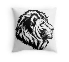 King of the Pride BLK Throw Pillow