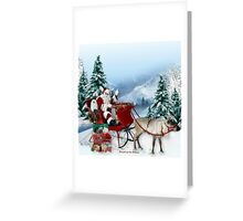 Snowdrop the Maltese & The Sleigh Ride ! Greeting Card