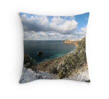 Snow and sea. Throw Pillow