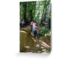 On the Trails Greeting Card