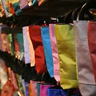 Bags at Central Market - Siem Reap, Cambodia by Leigh Penfold
