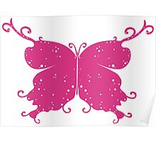 Abstract Fantasy Butterfly 4 Poster