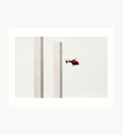 Red Helicopter Art Print