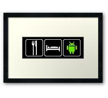 Food Sleep Android Framed Print