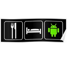Food Sleep Android Poster