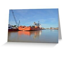 Cable laying ship Greeting Card