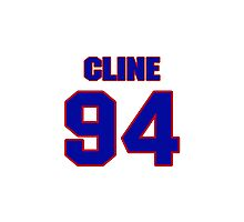 National football player Jackie Cline jersey 94 Photographic Print