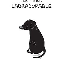 Spikeblack Lab Being Labradorable  by scarriebarrie