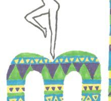 DMB Firedancer Aztec with black background Sticker