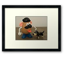 Mr Potato Head and his doggy  Framed Print
