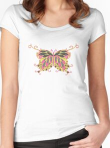 Abstract Fantasy Butterfly 8 Women's Fitted Scoop T-Shirt