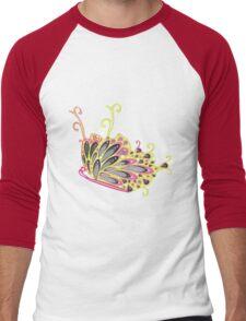 Abstract Fantasy Butterfly 9 Men's Baseball ¾ T-Shirt