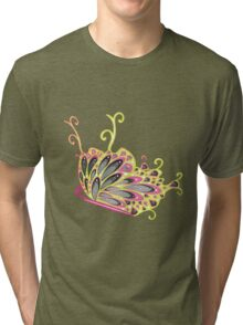 Abstract Fantasy Butterfly 9 Tri-blend T-Shirt