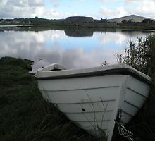 boat on the loch side - Shetland by Mark Thomson