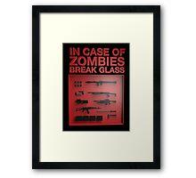 In Case of Zombies Break Glass  Framed Print