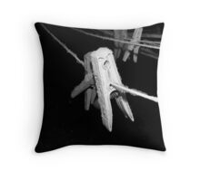 Snow on the Line Throw Pillow