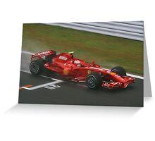 Kimi Raikkonen Greeting Card