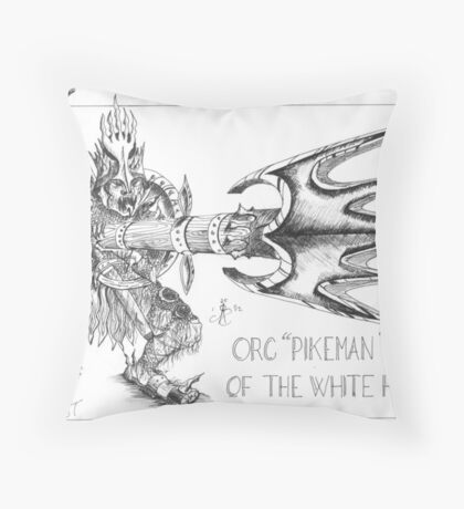 """Orc pikeman of the white hand"" Throw Pillow"