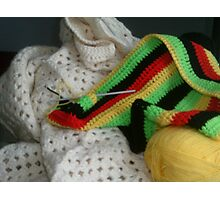 Crochet Projects Photographic Print