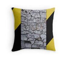 Caution - Cracked Paint Throw Pillow