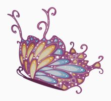 Abstract Fantasy Butterfly 12 Kids Tee
