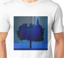 Point of view on the city blue Unisex T-Shirt