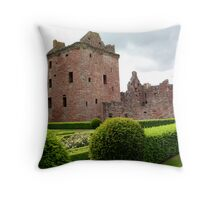 Edzell Castle From The Garden Throw Pillow