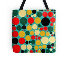Retro Pop Polka Dot Mosaic Pattern #2 Tote Bag