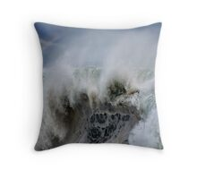 Monster Waves At Pipeline Throw Pillow