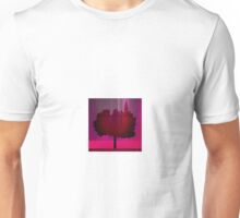 Point of view on the purple city Unisex T-Shirt