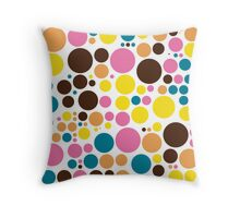 Retro Polka Dot Mosaic Pattern Throw Pillow