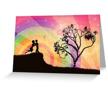 Romantic couple at sunset Greeting Card