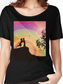 Romantic couple at sunset Women's Relaxed Fit T-Shirt