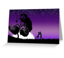 Romantic couple at sunset 2 Greeting Card