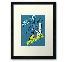 Badass Kingdra Framed Print