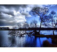 Blue Rain Photographic Print