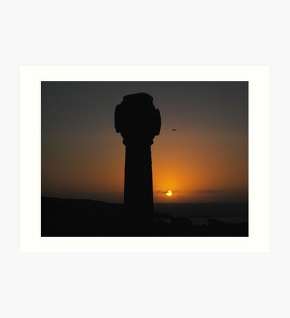 Sunset From Barnoon Cemetery 2, St Ives Art Print