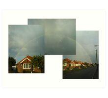 Rainbow in Caister-on-sea Art Print
