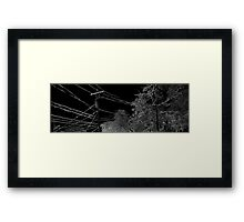 HDR Composite - The Snow that Sticks Framed Print