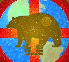Earth Medicine-Brown Bear (Harvesting Time) by Jan Landers