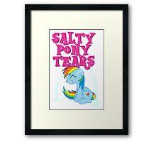 Salty Pony Tears Framed Print